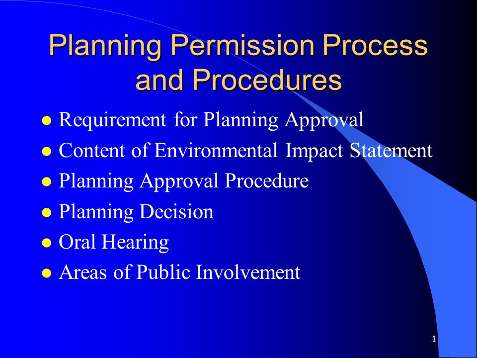 Planning Permission Process and Procedures