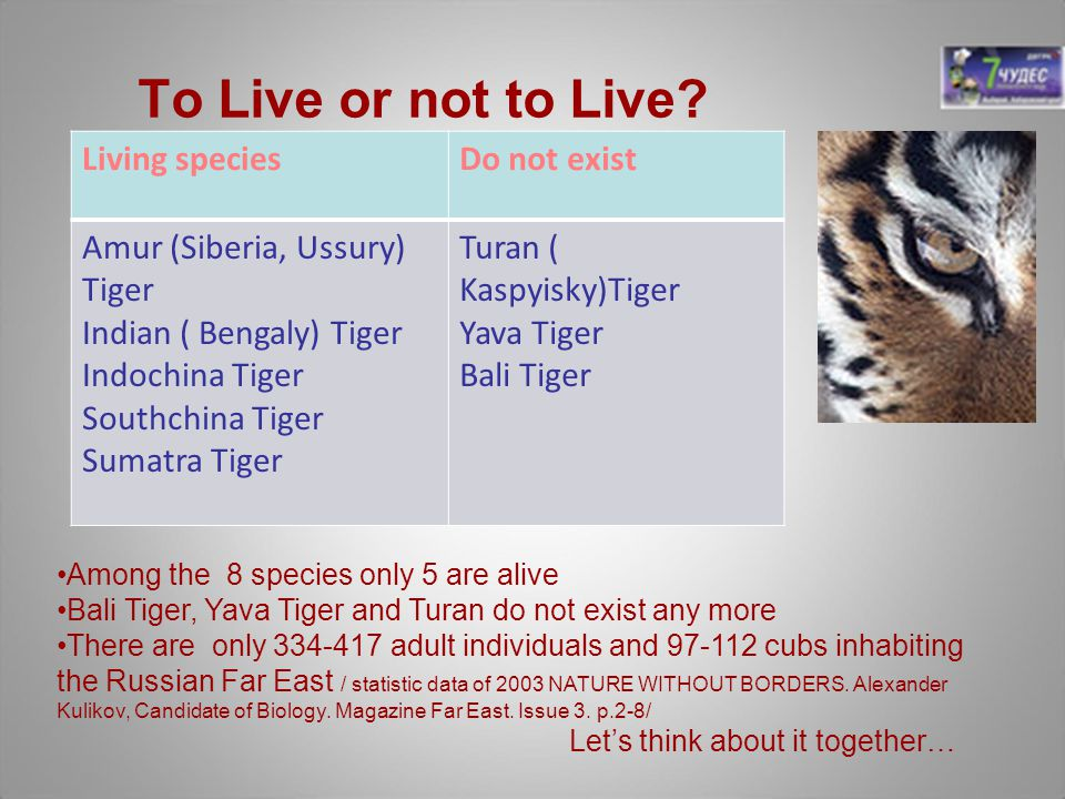 To Live or not to Live Living species Do not exist