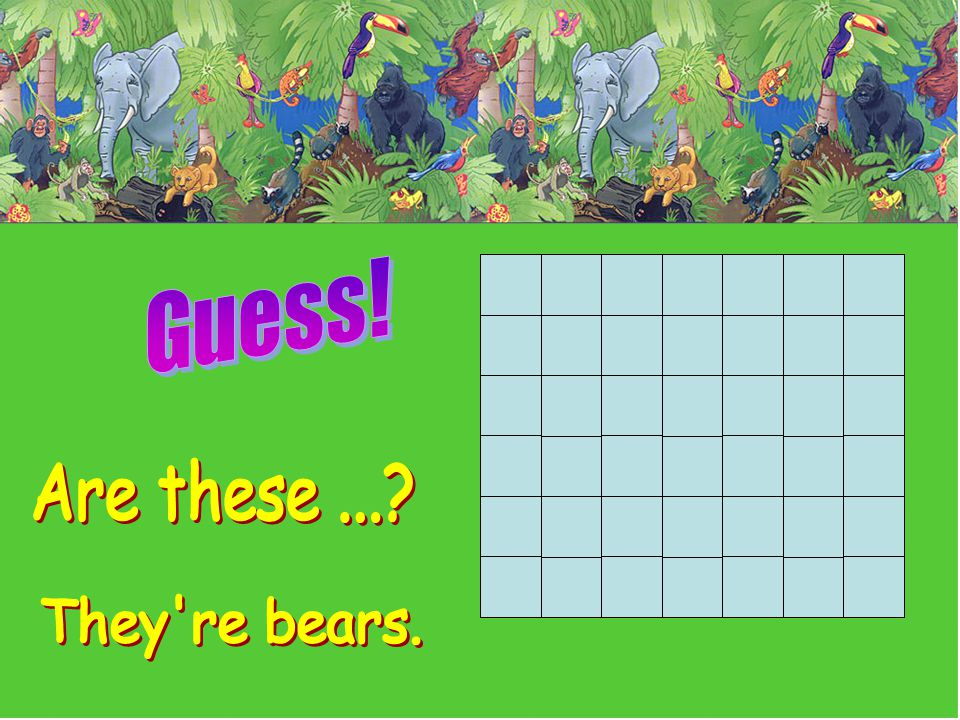 Guess! Are these ... They re bears.