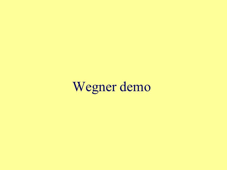 Wegner demo
