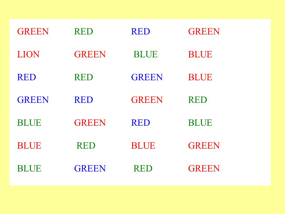 GREEN RED RED GREEN LION GREEN BLUE BLUE. RED RED GREEN BLUE. GREEN RED GREEN RED. BLUE GREEN RED BLUE.