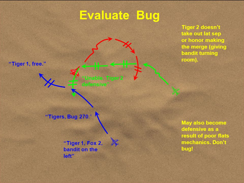 Evaluate Bug Tiger 2 doesn't take out lat sep or honor making the merge (giving bandit turning room).