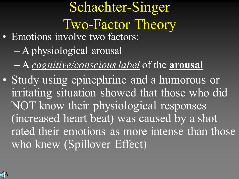 Schachter-Singer Two-Factor Theory