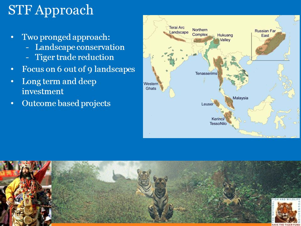 STF Approach Two pronged approach: Landscape conservation