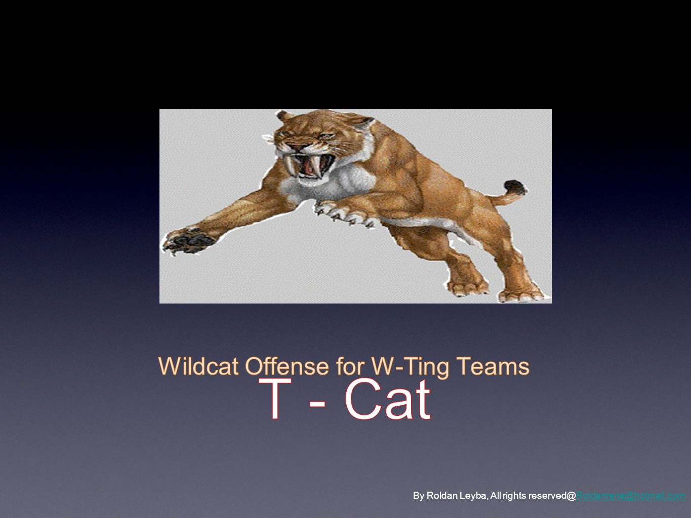 T - Cat Wildcat Offense for W-Ting Teams