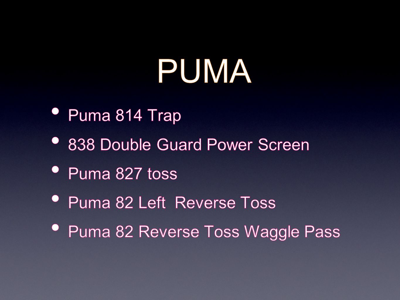 PUMA Puma 814 Trap 838 Double Guard Power Screen Puma 827 toss