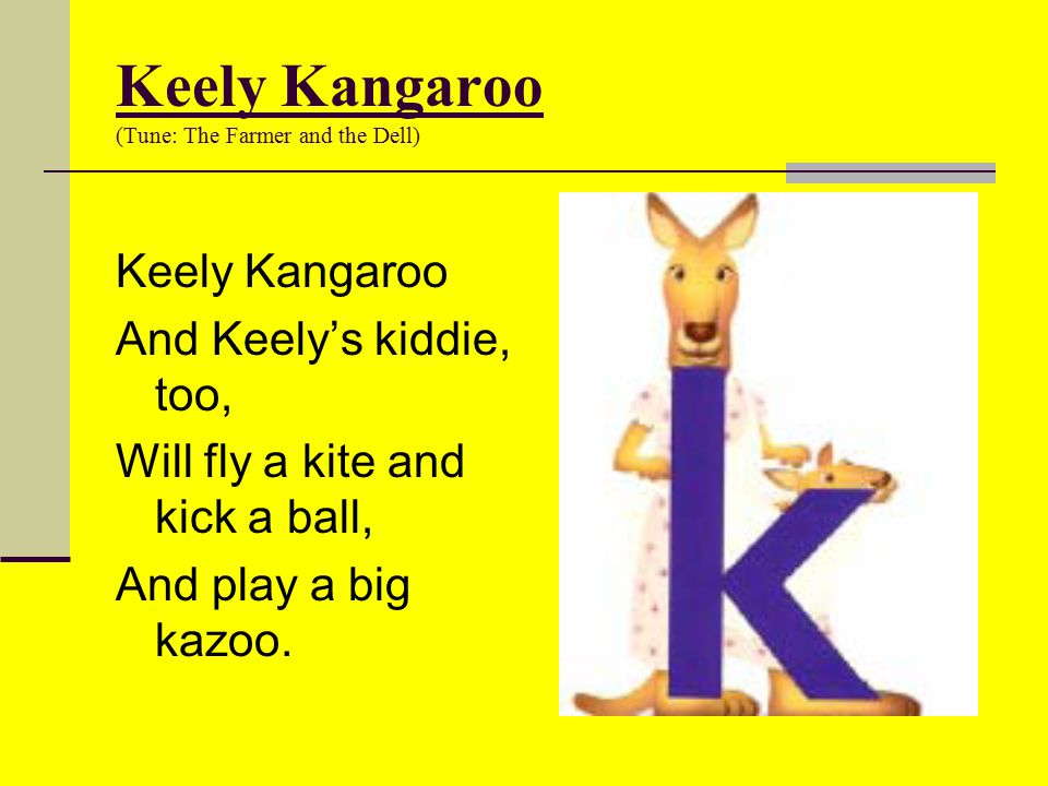 Keely Kangaroo (Tune: The Farmer and the Dell)