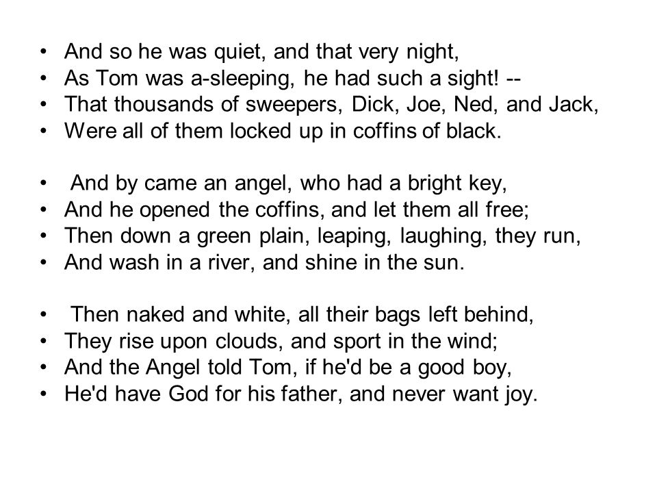 And so he was quiet, and that very night,