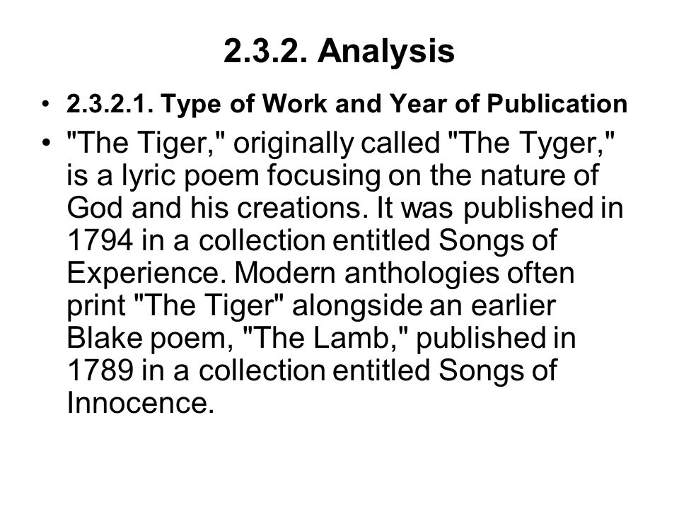 2.3.2. Analysis 2.3.2.1. Type of Work and Year of Publication.