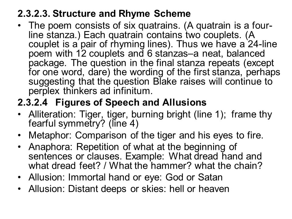 2.3.2.3. Structure and Rhyme Scheme