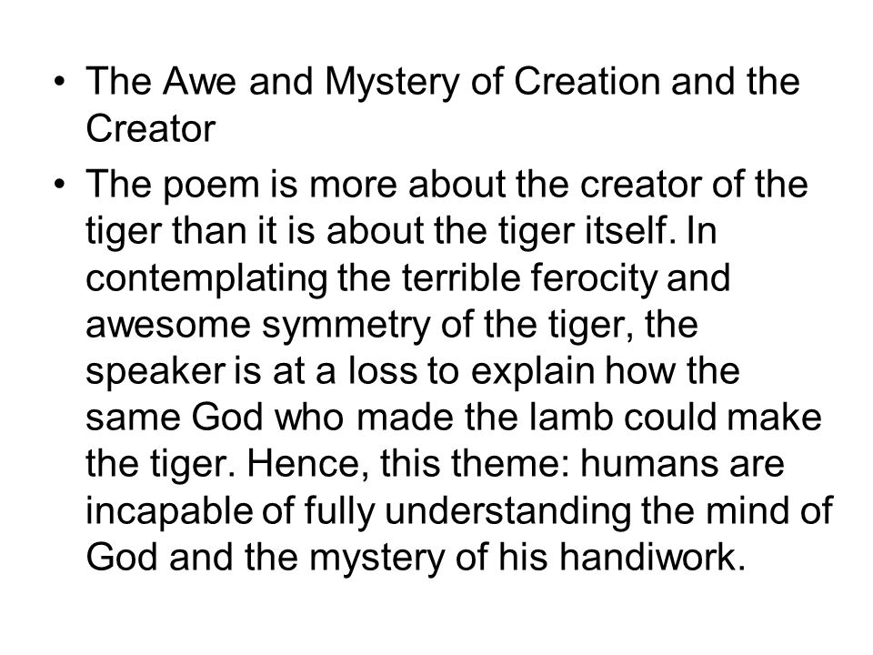 The Awe and Mystery of Creation and the Creator