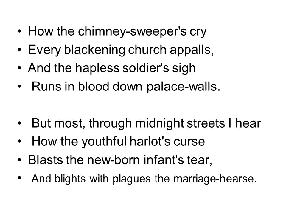 How the chimney-sweeper s cry