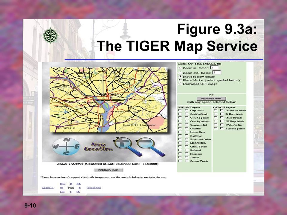 Figure 9.3a: The TIGER Map Service