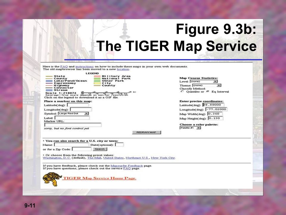 Figure 9.3b: The TIGER Map Service