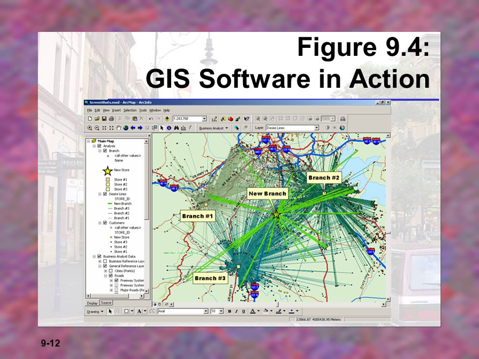 Figure 9.4: GIS Software in Action