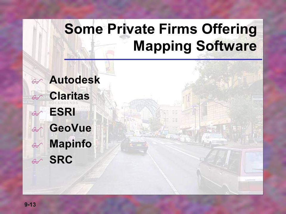 Some Private Firms Offering Mapping Software