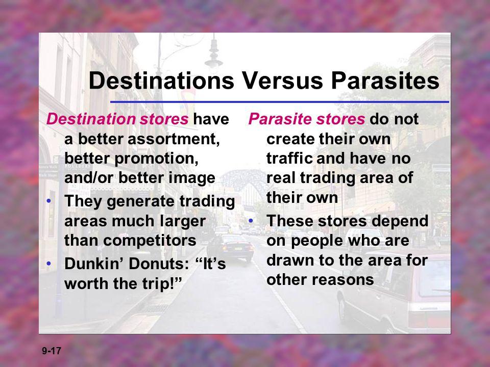 Destinations Versus Parasites