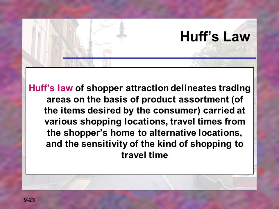 Huff's Law