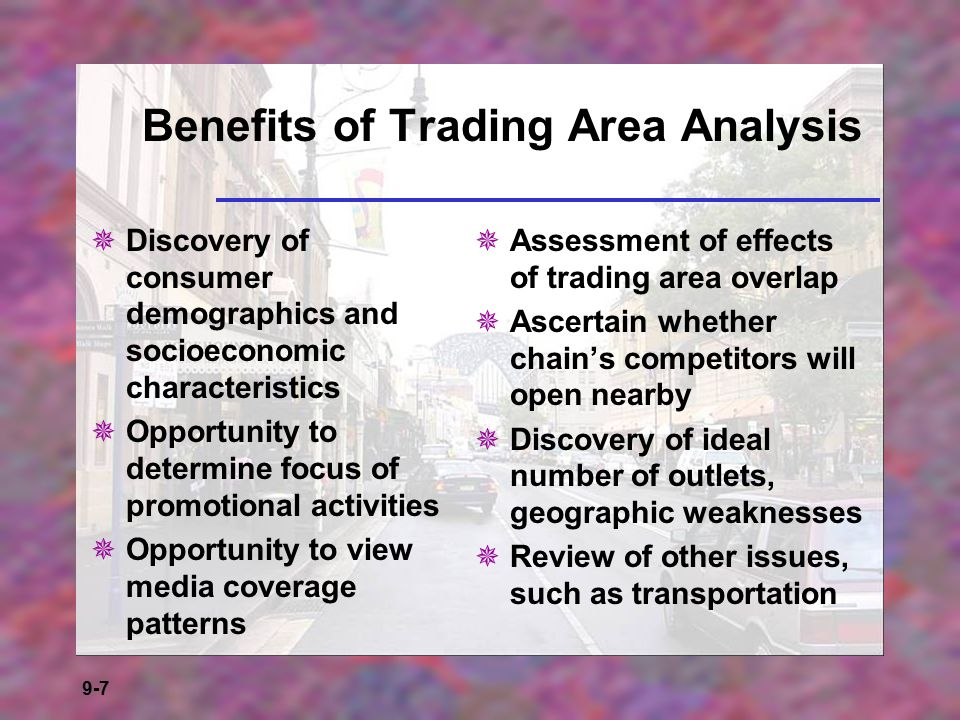 Benefits of Trading Area Analysis