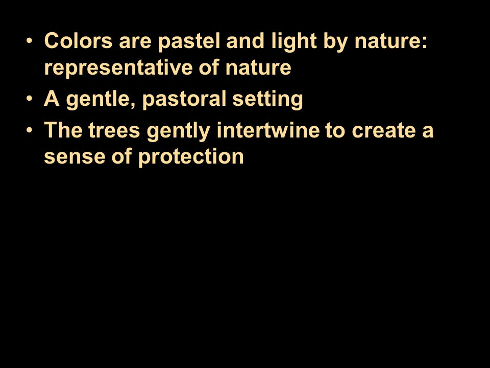 Colors are pastel and light by nature: representative of nature