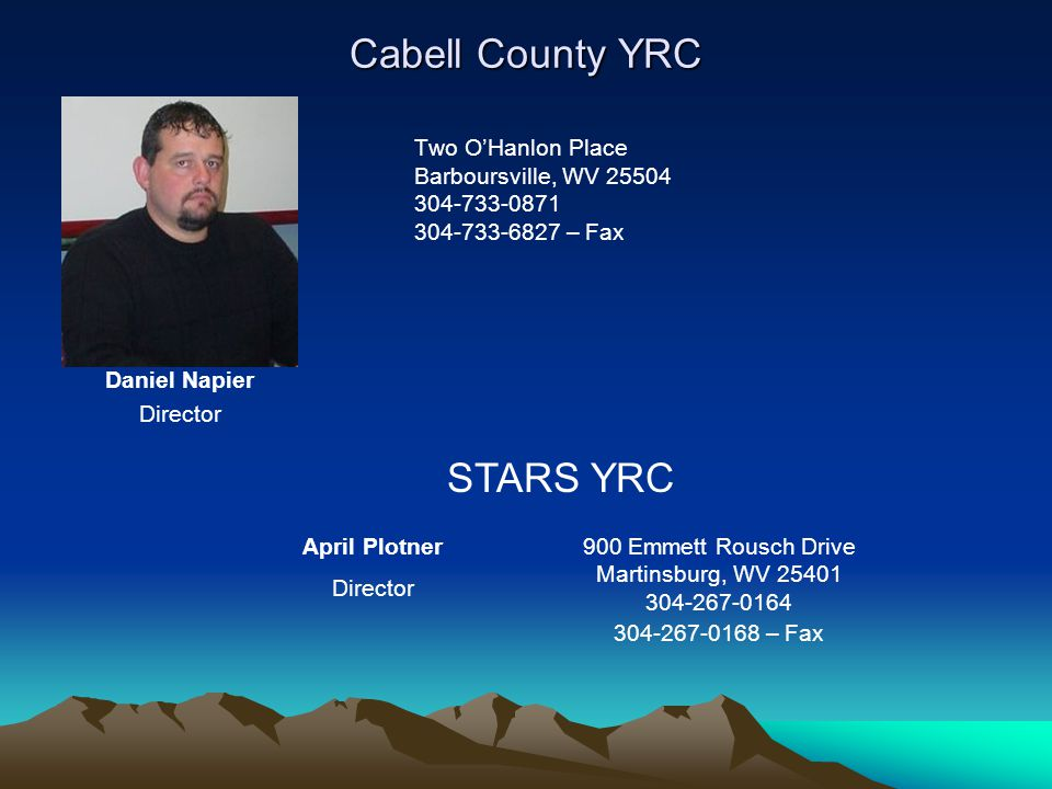 Cabell County YRC STARS YRC Two O'Hanlon Place Barboursville, WV 25504