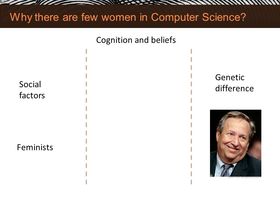 Why there are few women in Computer Science