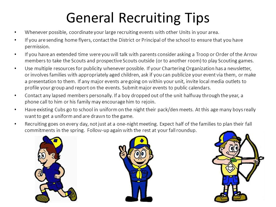 General Recruiting Tips