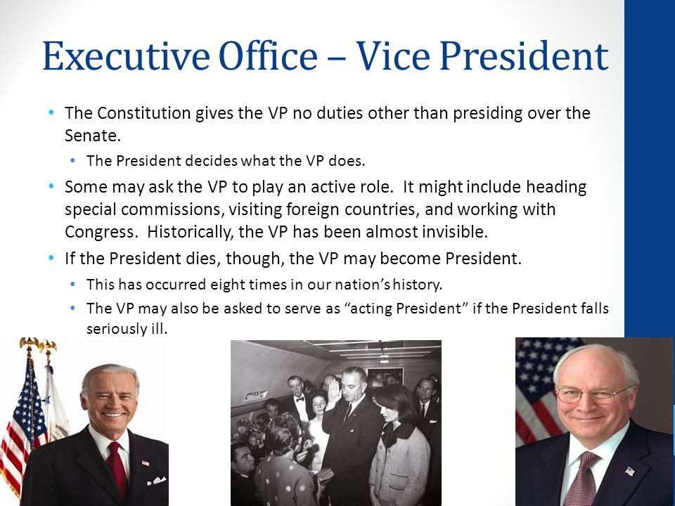 Executive Office – Vice President