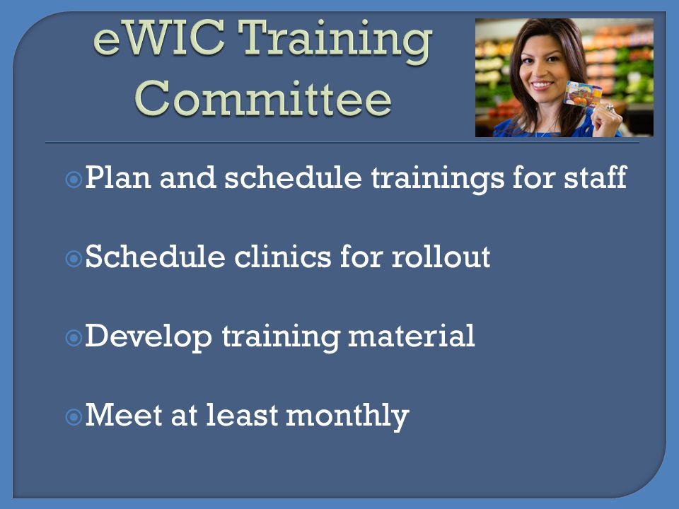 eWIC Training Committee