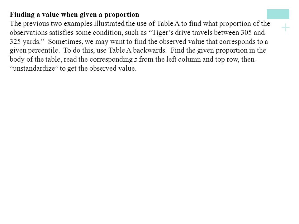 Finding a value when given a proportion