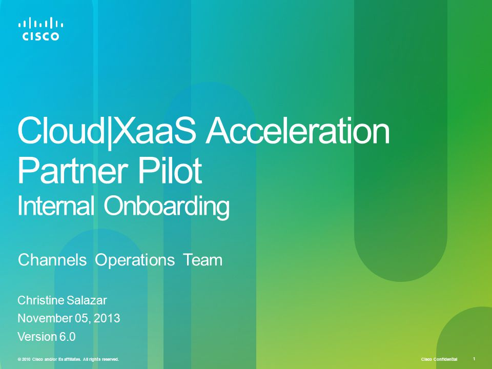 Cloud|XaaS Acceleration Partner Pilot Internal Onboarding