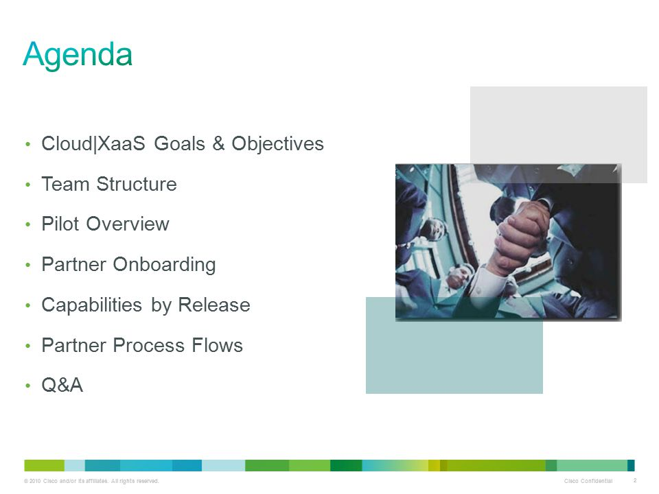 Agenda Cloud|XaaS Goals & Objectives Team Structure Pilot Overview