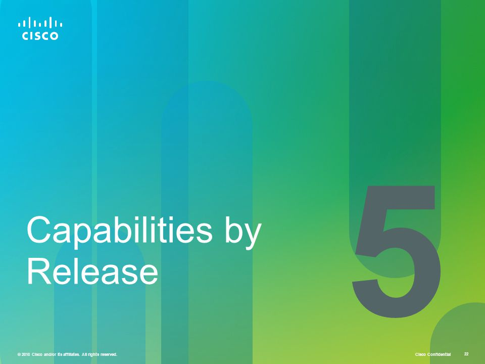 5 Capabilities by Release