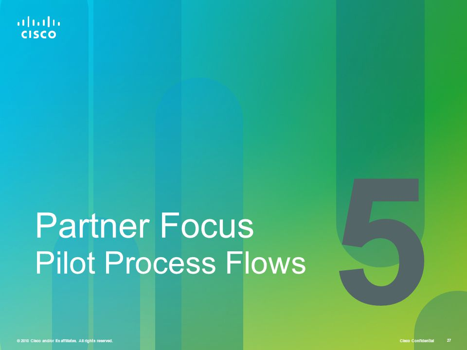 5 Partner Focus Pilot Process Flows