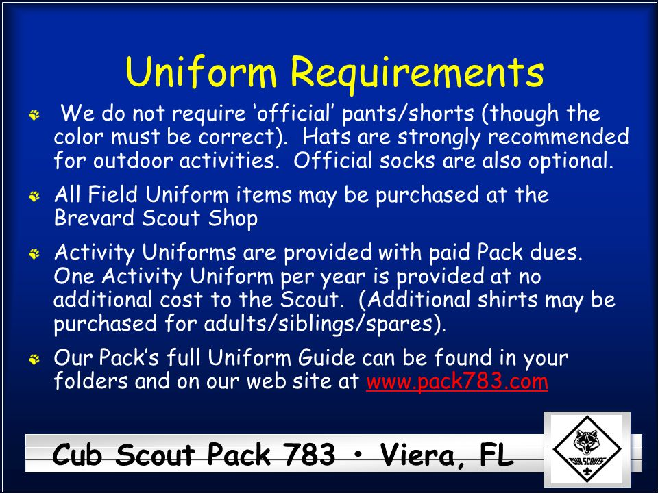 Uniform Requirements