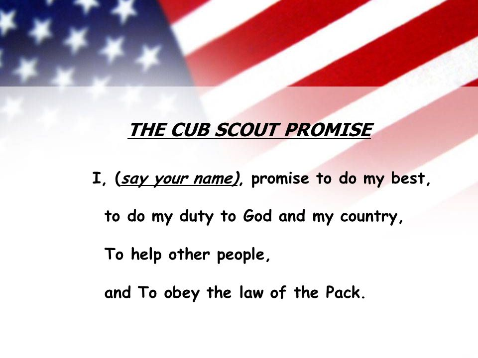 THE CUB SCOUT PROMISE