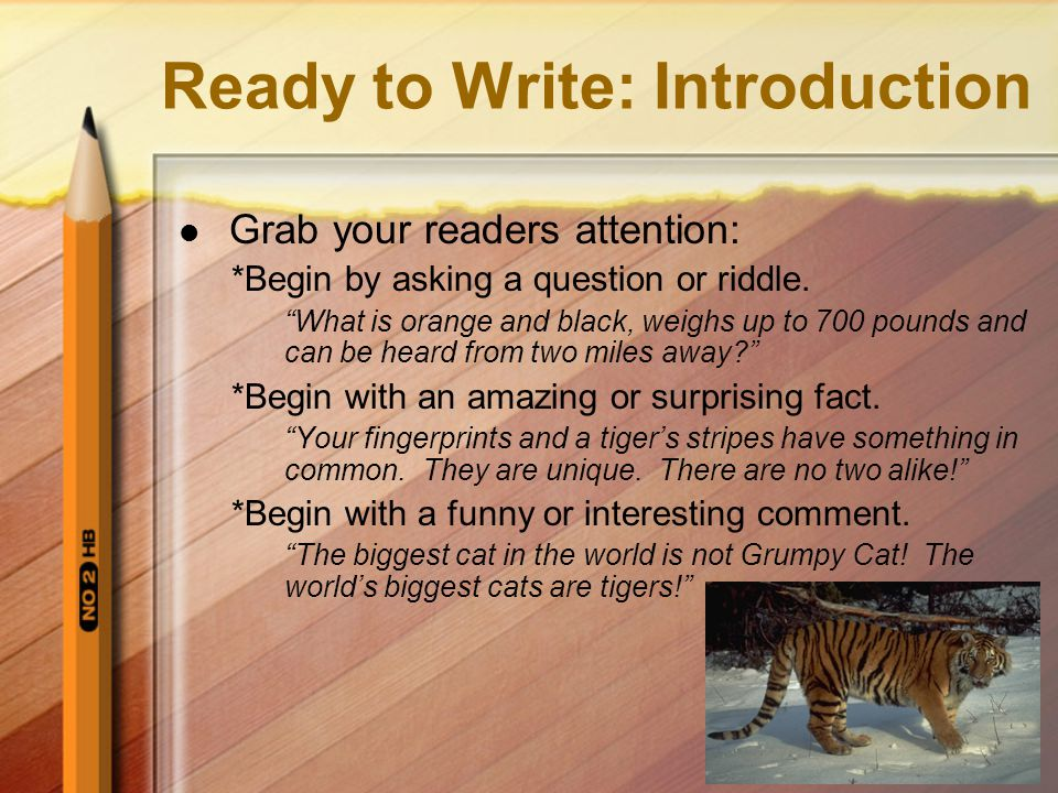 Ready to Write: Introduction