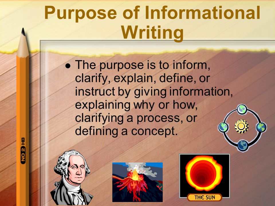 Purpose of Informational Writing