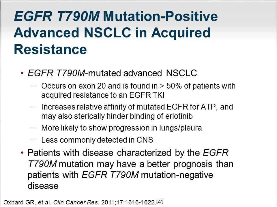 EGFR T790M Mutation-Positive Advanced NSCLC in Acquired Resistance