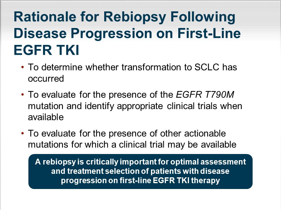 Rationale for Rebiopsy Following Disease Progression on First-Line EGFR TKI
