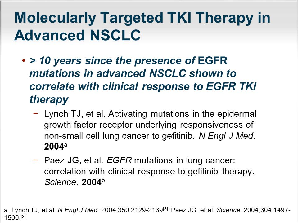 Molecularly Targeted TKI Therapy in Advanced NSCLC