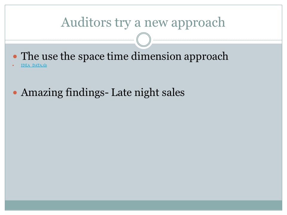 Auditors try a new approach