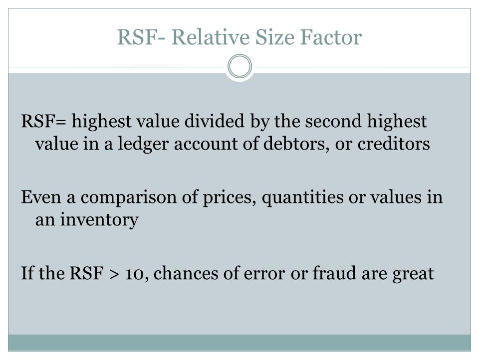 RSF- Relative Size Factor