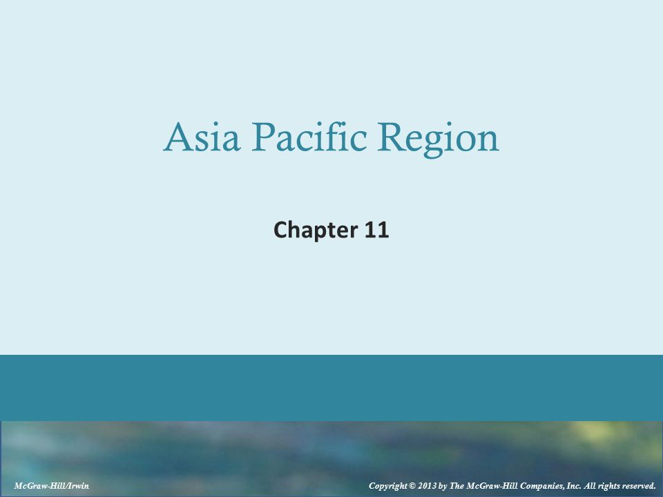 Asia Pacific Region Chapter 11