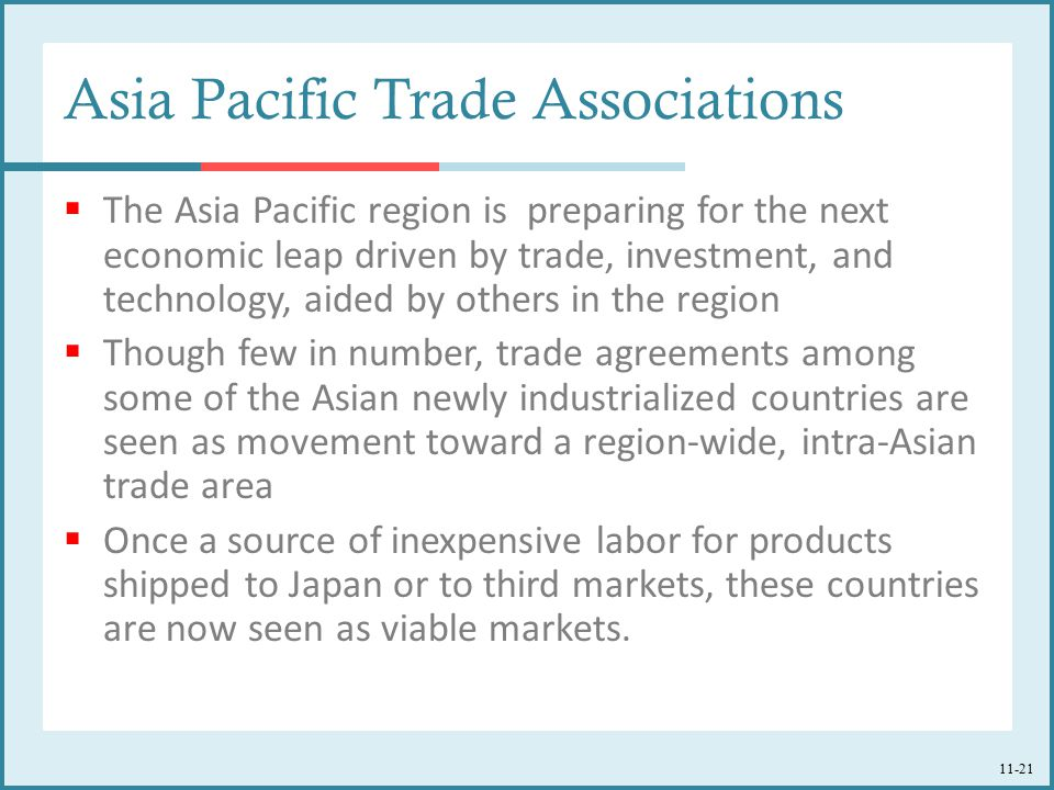 Asia Pacific Trade Associations