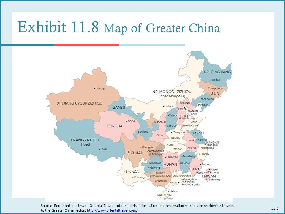 Exhibit 11.8 Map of Greater China