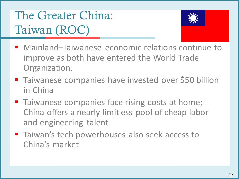 The Greater China: Taiwan (ROC)
