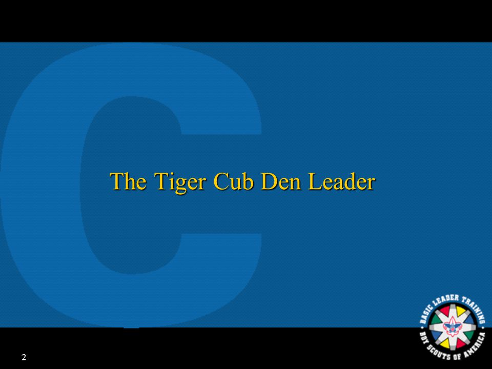 The Tiger Cub Den Leader