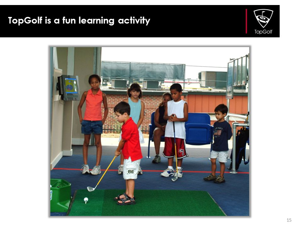 TopGolf is a fun learning activity