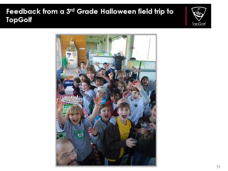 Feedback from a 3rd Grade Halloween field trip to TopGolf